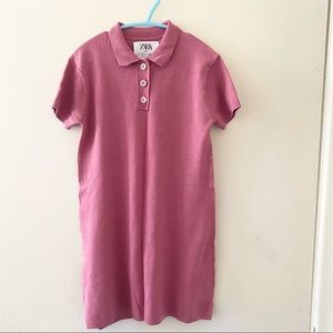 EUC Zara Girls Pink Shirt Dress 7 years